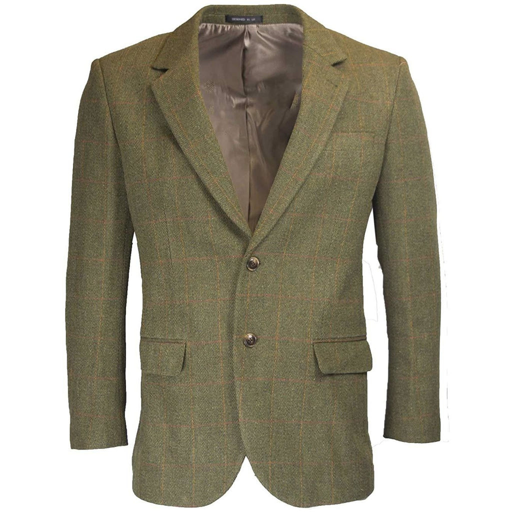 Walker & Hawkes Windsor Dark Sage Tweed Country Blazer / Jacket-Equestrian Co.