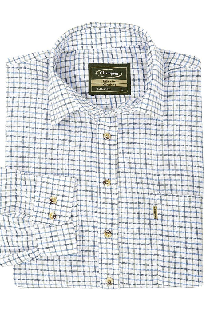 Champion Men's Blue Easy Care Country Check Shirt