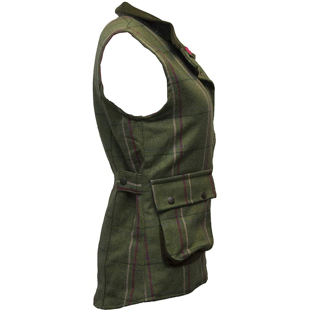 Walker & Hawkes Ladies' Pink Stripe Derby Tweed Waistcoat / Gilet-Equestrian Co.