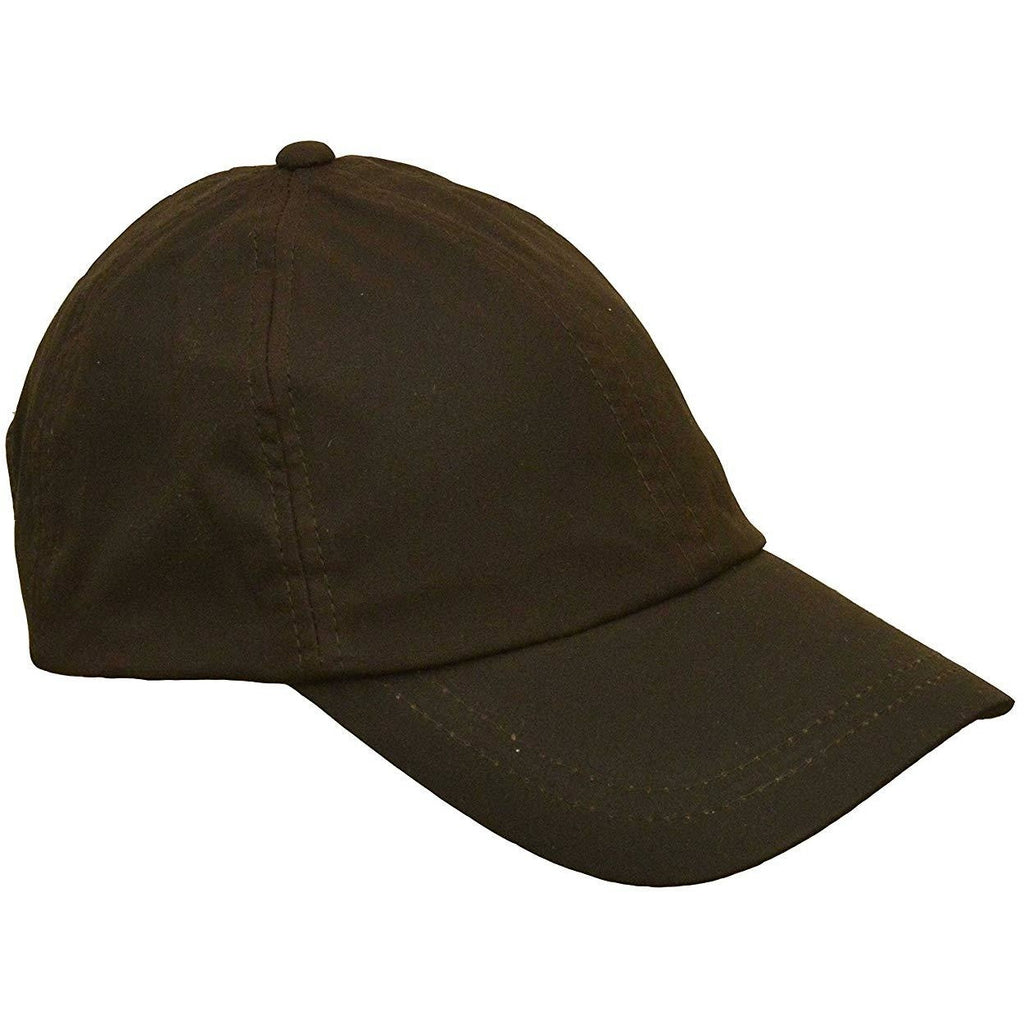 Walker & Hawkes Unisex Waterproof Brown Waxed Cotton Baseball Cap-Equestrian Co.