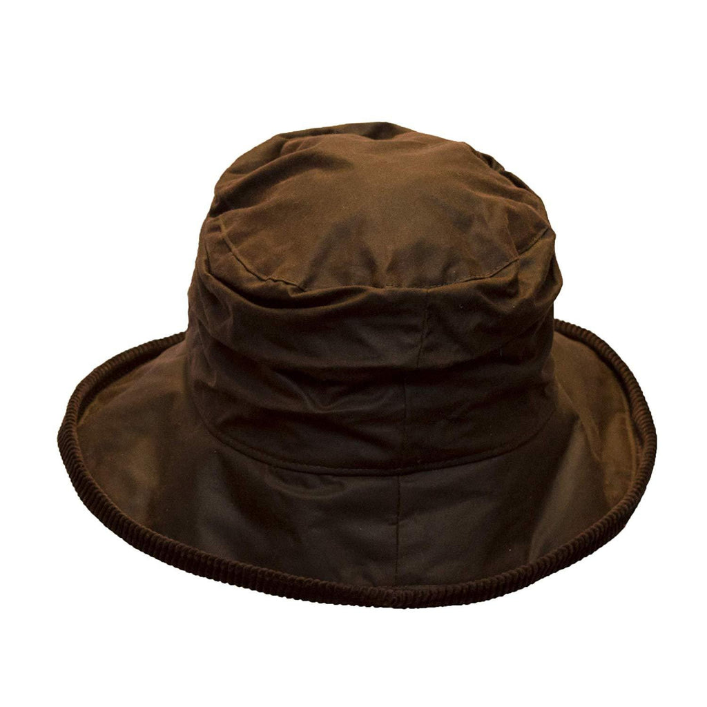 Walker & Hawkes Ladies' Brown Diana Wax Waterproof Hat
