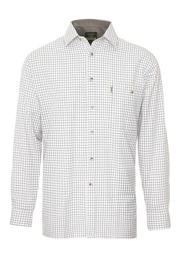 Champion Men's Long Sleeved Cotton Wine Check Shirt