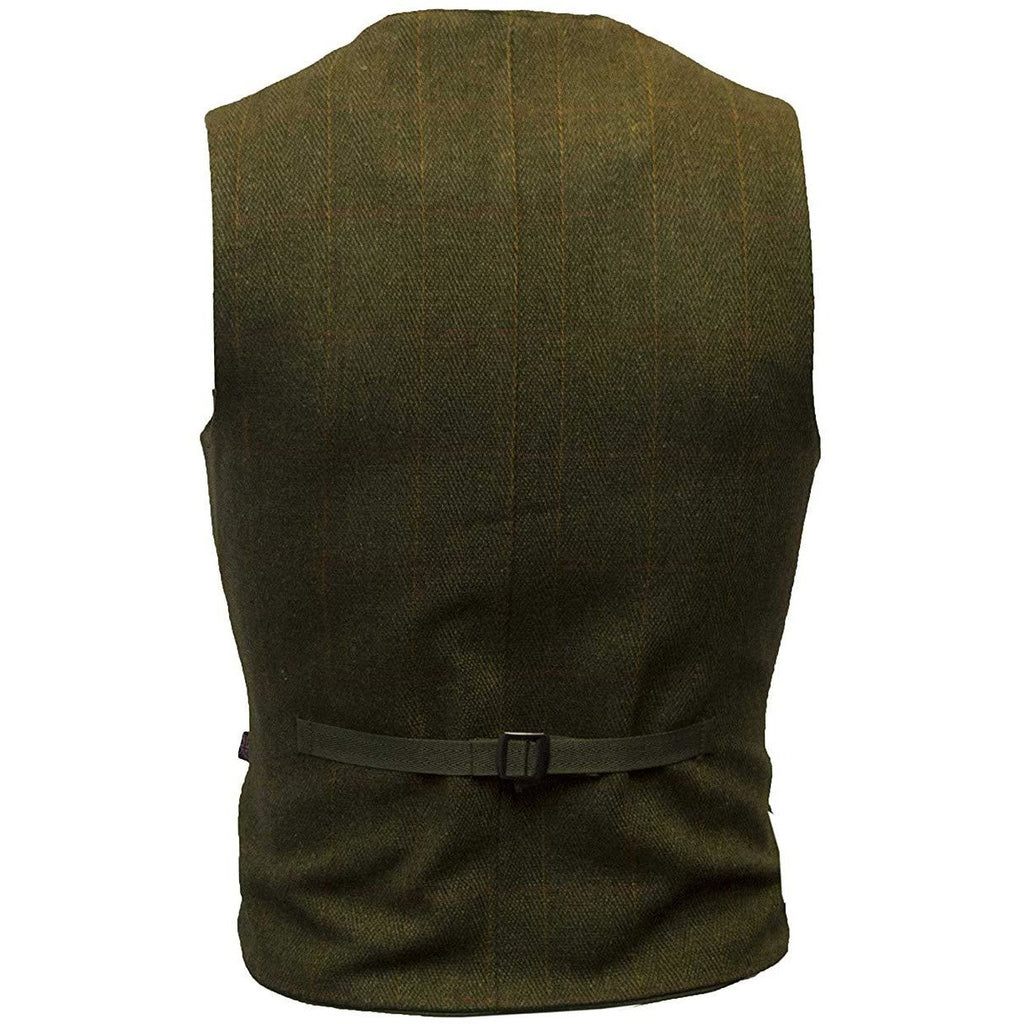 Walker & Hawkes Men's Dark Sage Formal Dress Tweed Waistcoat / Gilet-Equestrian Co.