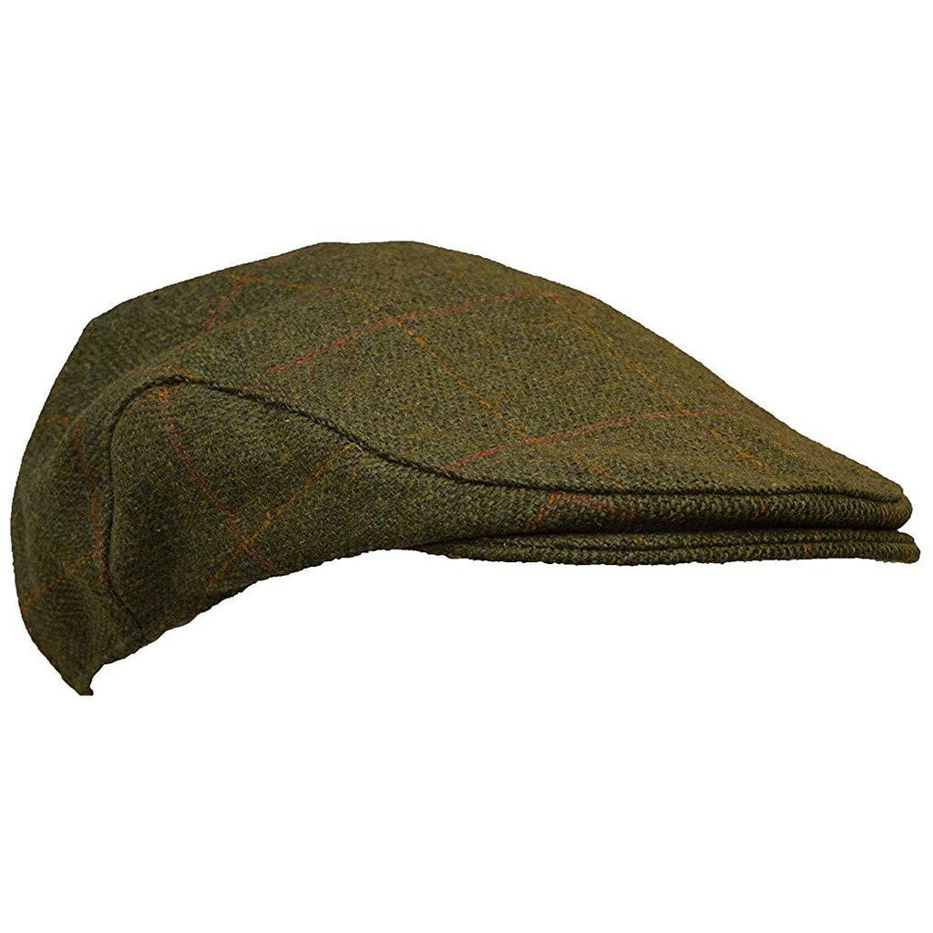 Walker & Hawkes Unisex Dark Sage Tweed Shooting Flat Cap