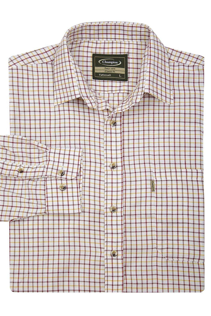 Champion Men's Red Easy Care Country Check Shirt