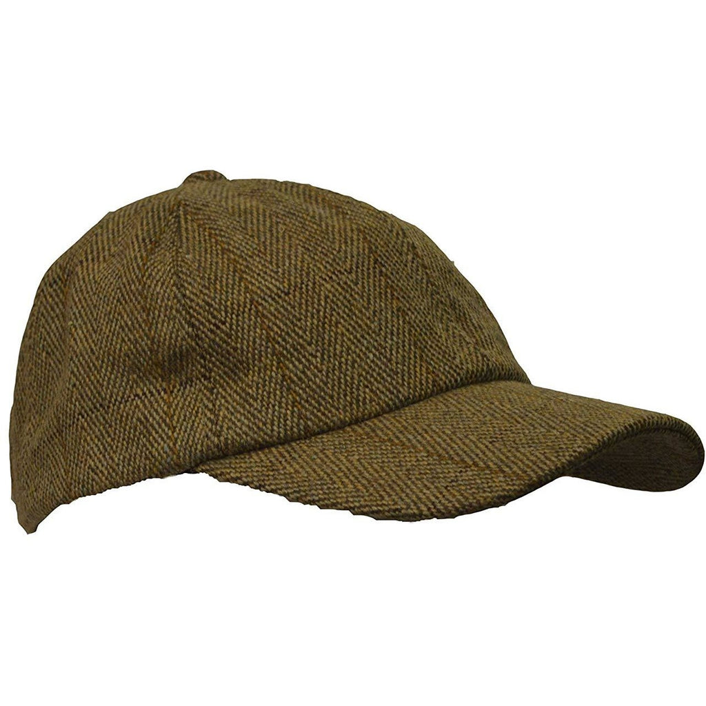 Walker & Hawkes Unisex Light Sage Classic Derby Tweed Baseball Cap-Equestrian Co.