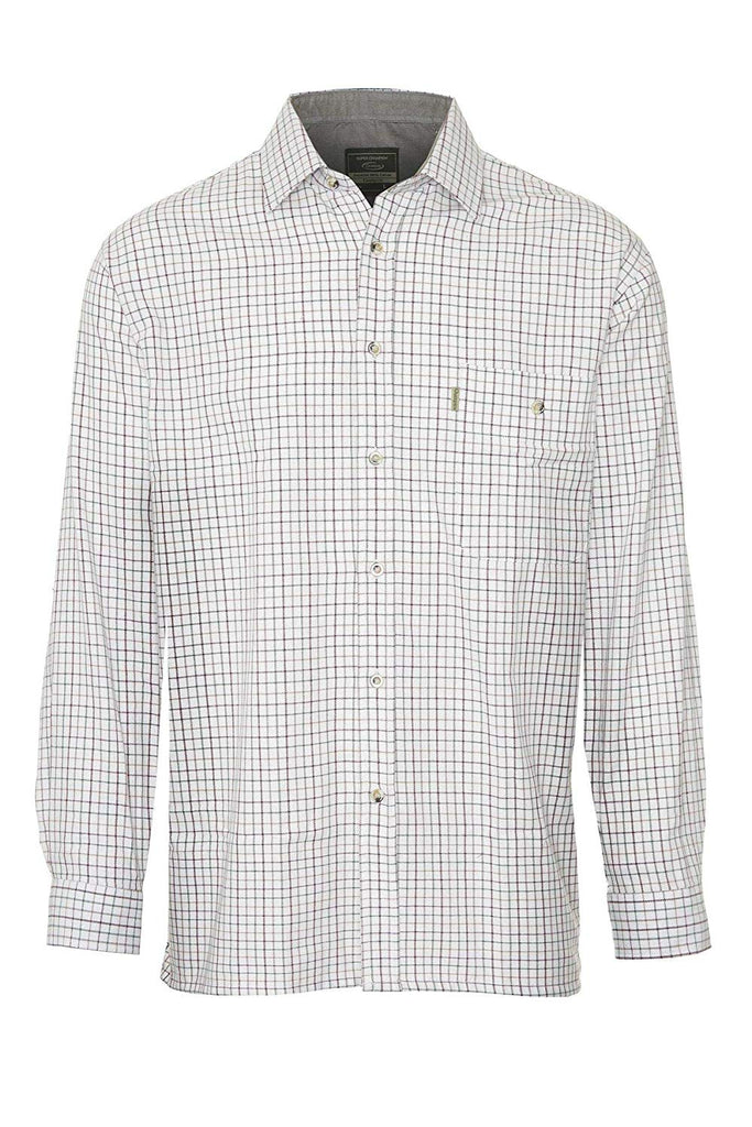 Champion Men's Long Sleeved Cotton Green Check Shirt