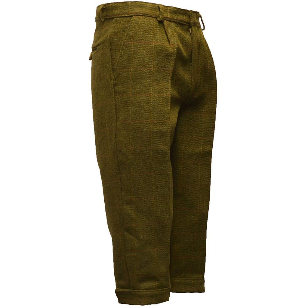 Walker & Hawkes Children's Dark Sage Tweed Shooting Breeks/Plus Fours-Equestrian Co.