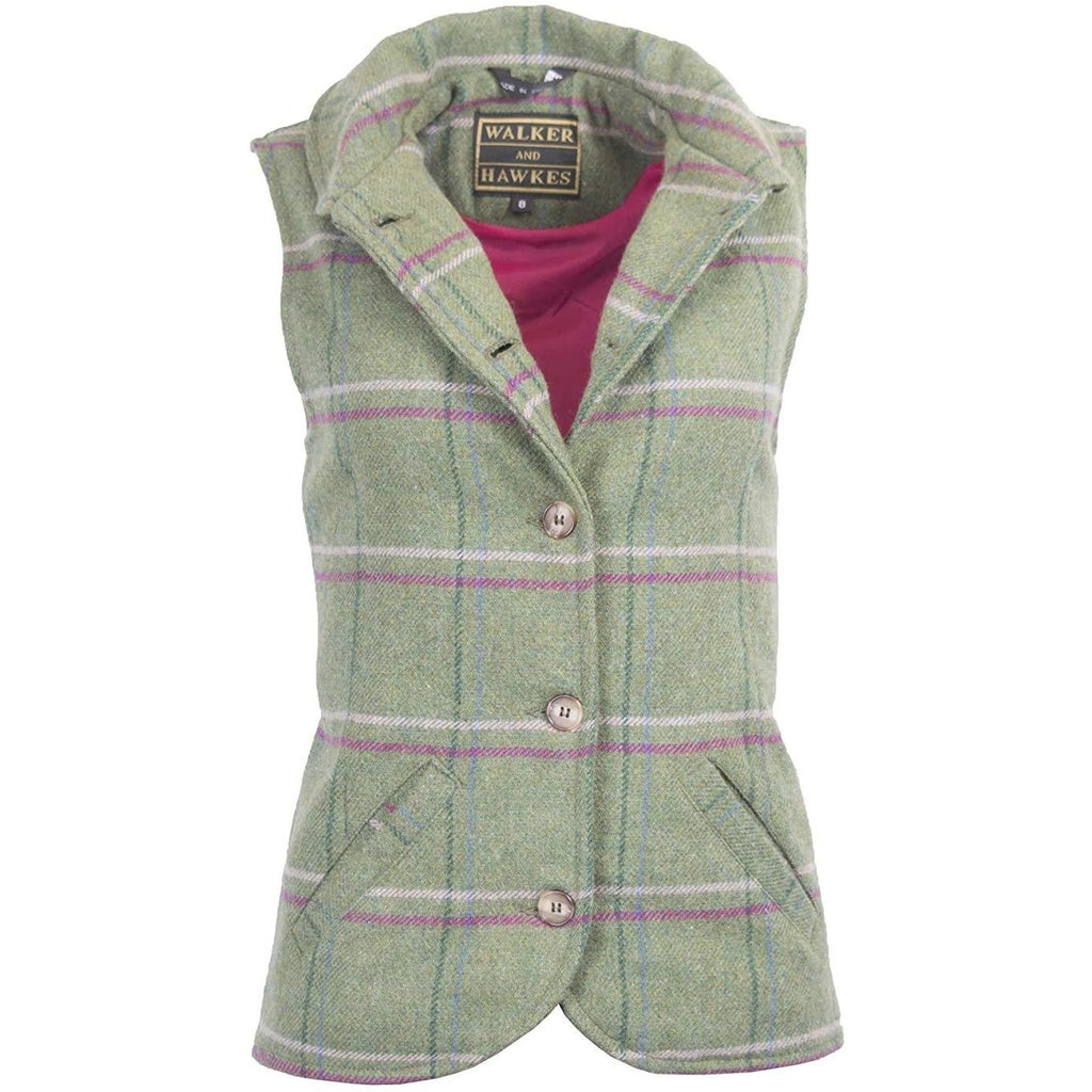 Walker & Hawkes Ladies' Pink Stripe Ashby Tweed Waistcoat / Gilet