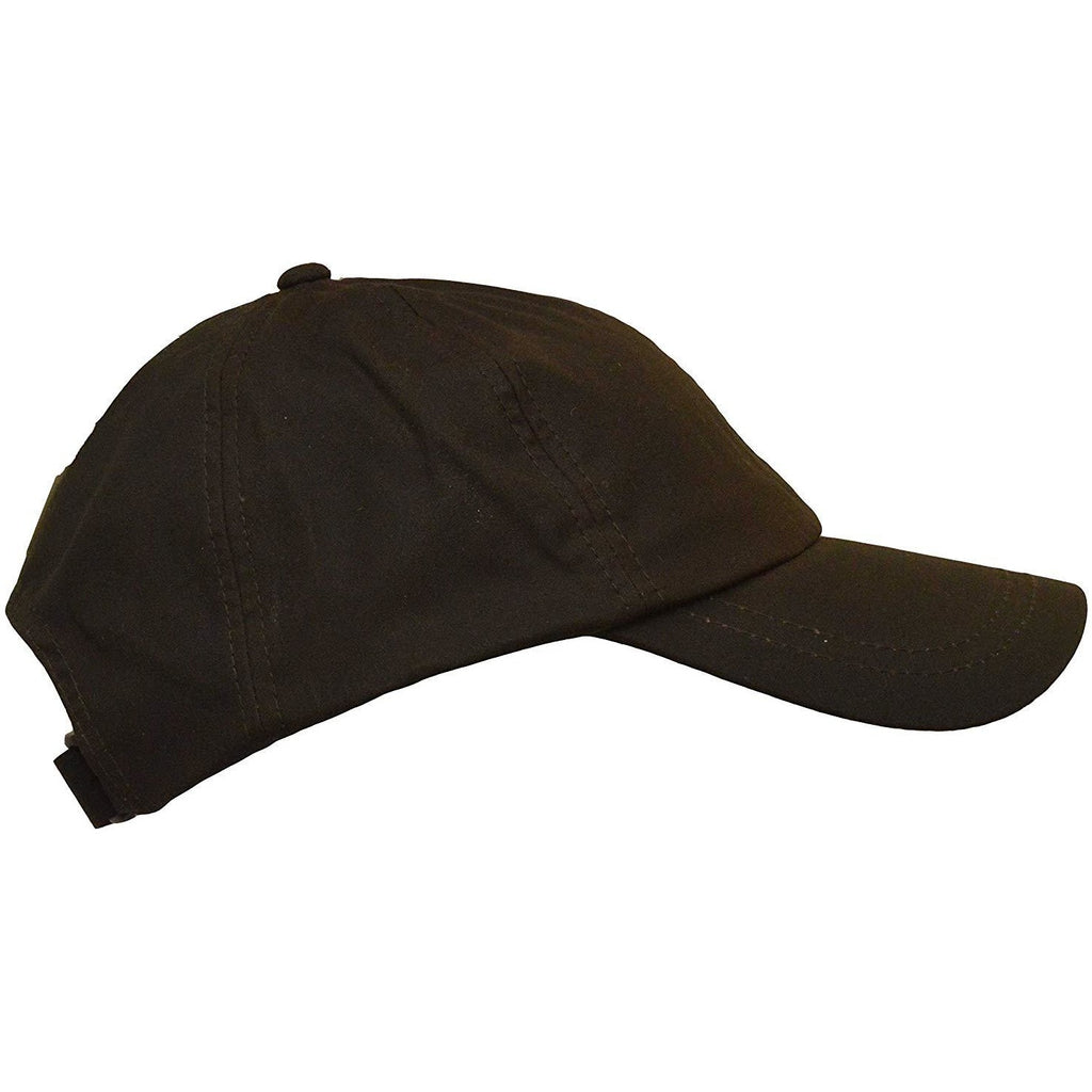 Walker & Hawkes Unisex Waterproof Brown Waxed Cotton Baseball Cap