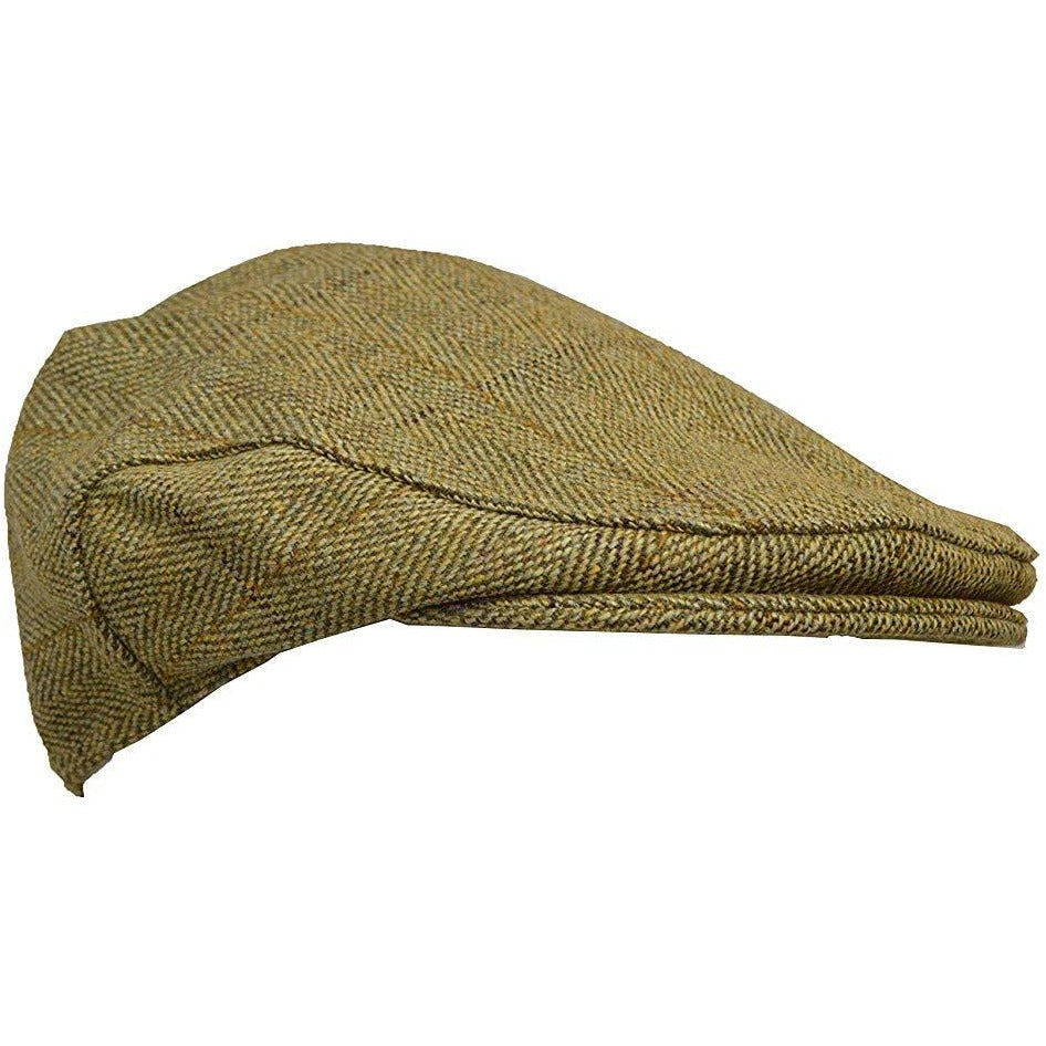 Walker & Hawkes Unisex Light Sage Tweed Shooting Flat Cap