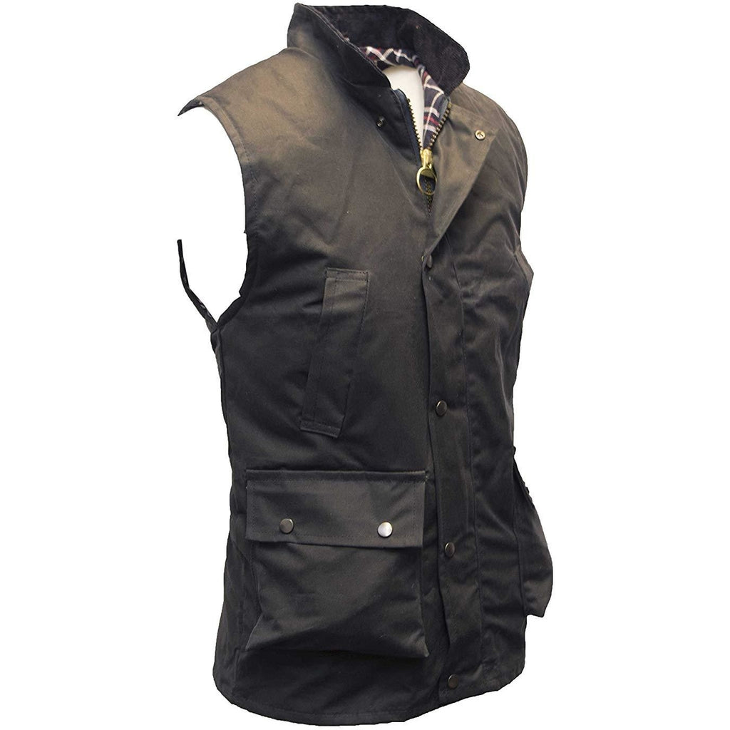 Walker & Hawkes Men's Country Navy Wax Waistcoat / Gilet-Equestrian Co.