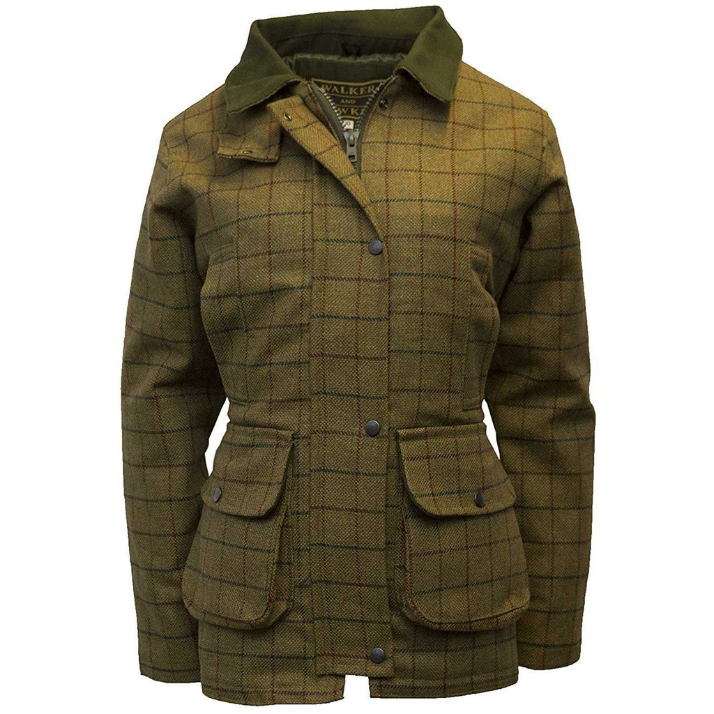 Walker & Hawkes Ladies' Beige Tweed Shooting Coat-Equestrian Co.
