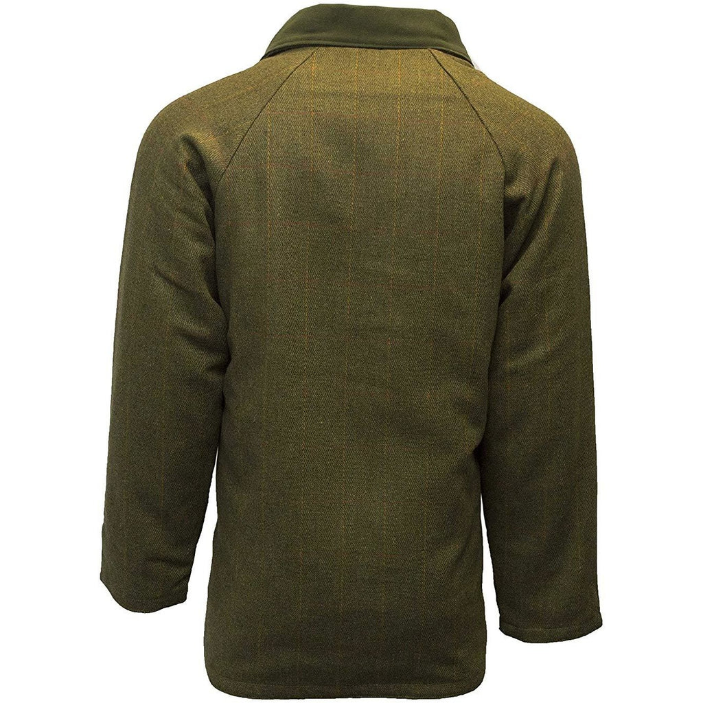 Walker & Hawkes Men's Dark Sage Tweed Shooting Country Coat / Jacket