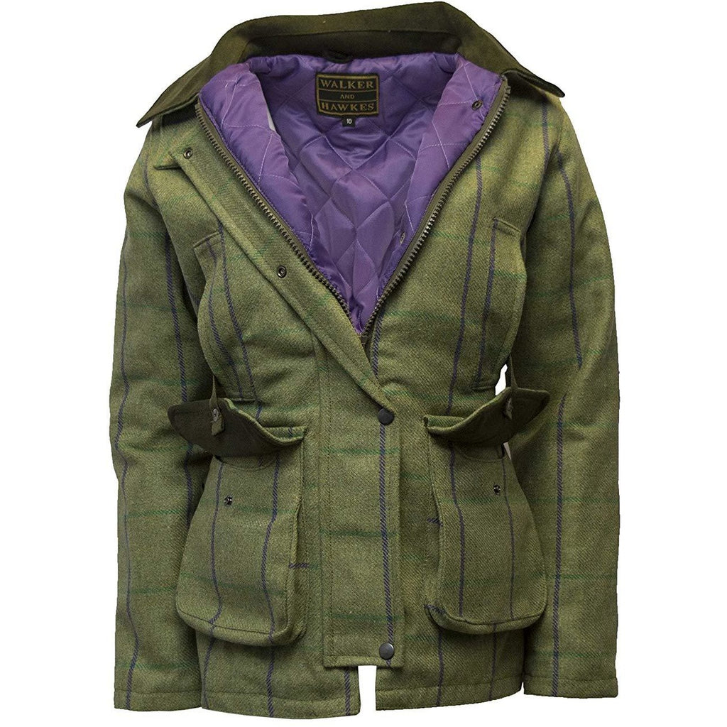 Walker & Hawkes Ladies' Purple Stripe Tweed Shooting Coat-Equestrian Co.