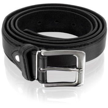 Woodland Leathers Men's Hand Crafted Black Leather Classic Jeans Belt