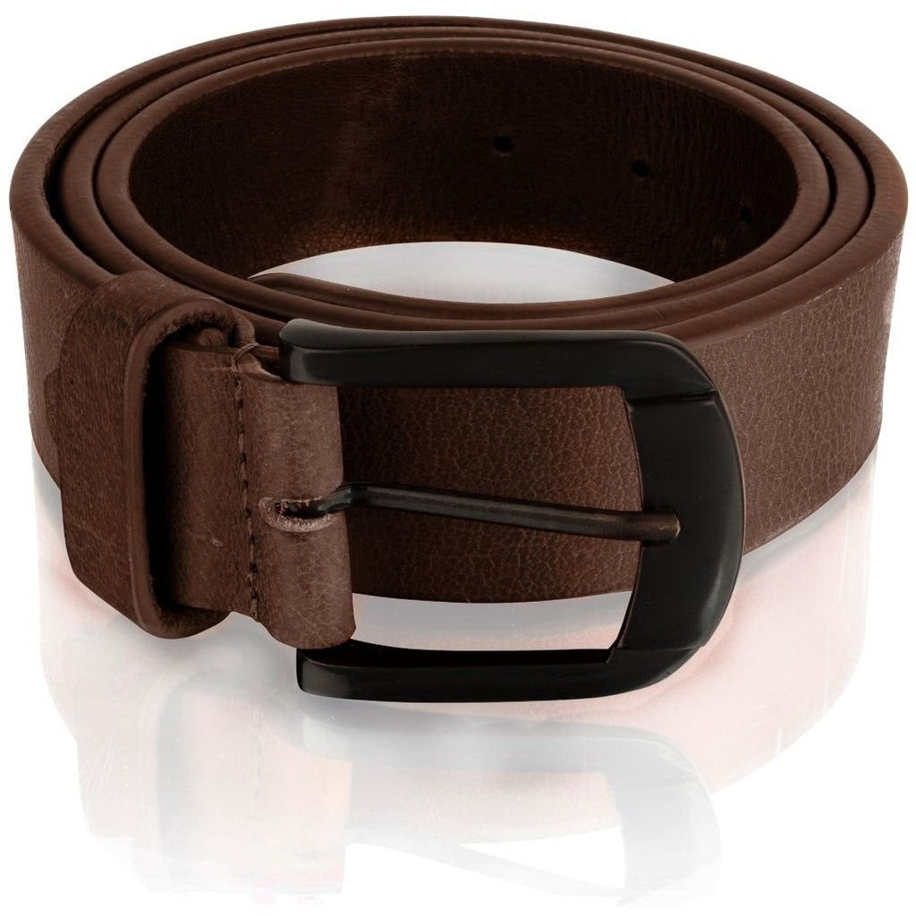 Woodland Leather Men's Thick Tan / Burgundy Leather Belt