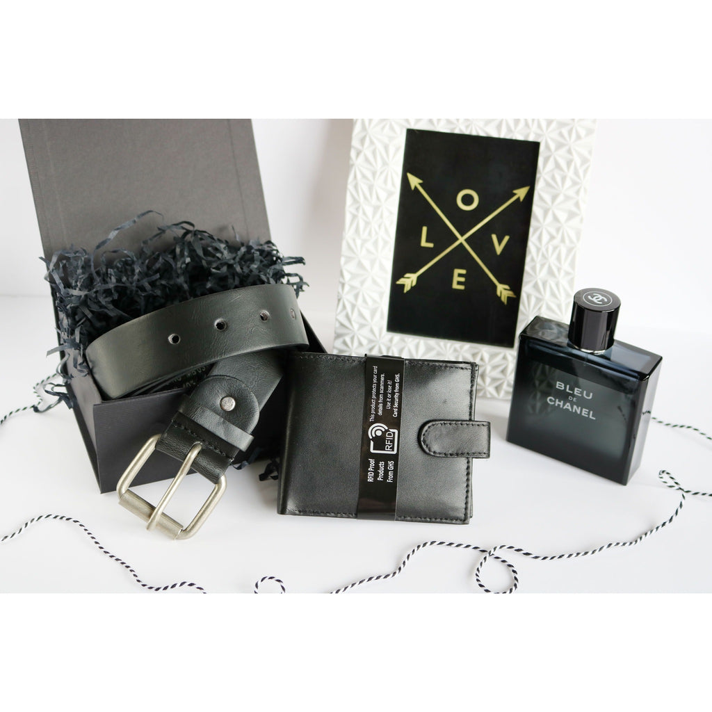Woodland Leather Men's Gift Box - Wallet & Belt Set-Equestrian Co.