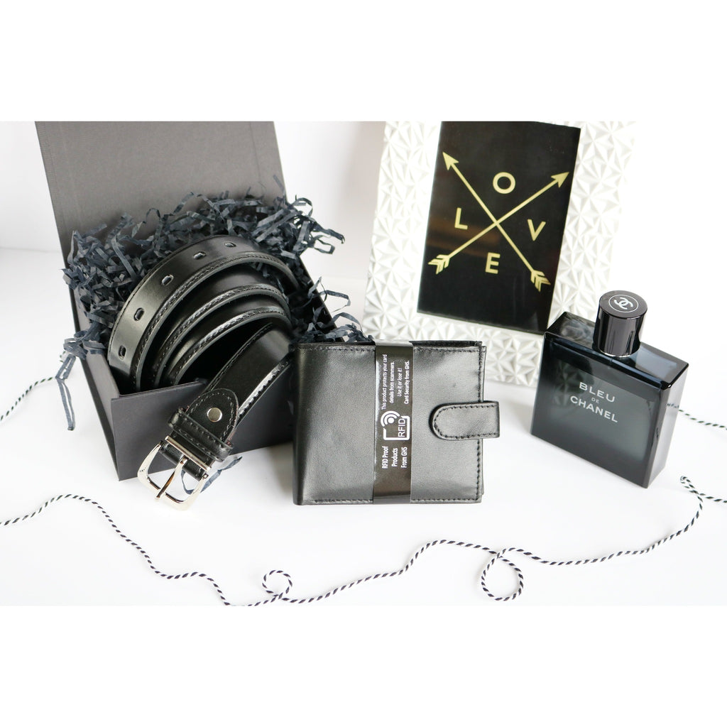 Woodland Leathers Gift Set for Men - Belt & Wallet