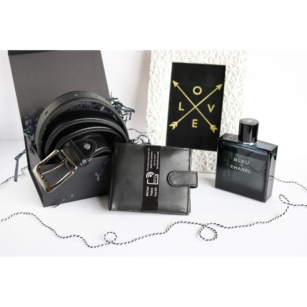 Woodland Leather Men's Leather Gift Set - Wallet & Belt-Equestrian Co.