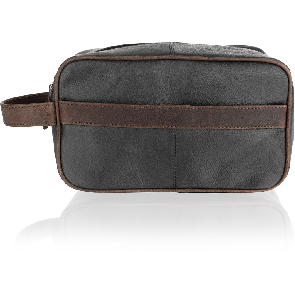 Woodland Leather Travel Wash Bag / Toiletry Bag