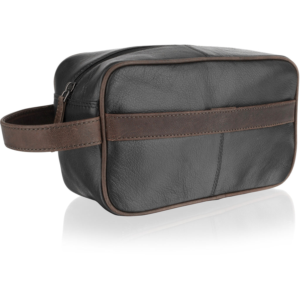 Woodland Leather Travel Wash Bag / Toiletry Bag-Equestrian Co.