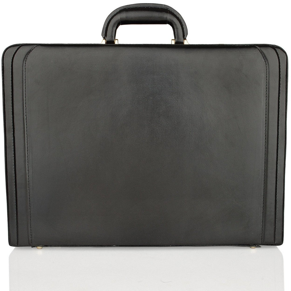 Woodland Leather Genuine Bonded Leather Expanding Attache Case - Equestrian Co. - 2