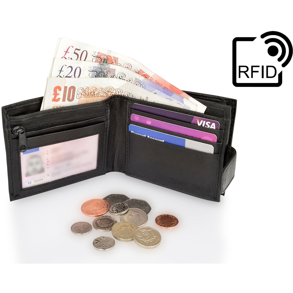 Woodland Leather RFID Secure Leather Wallet-Equestrian Co.