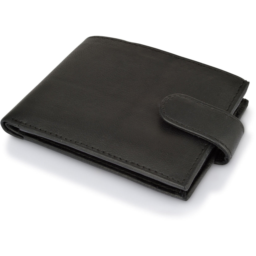 Woodland Leathers Men's Sheep Nappa Leather Black Wallet