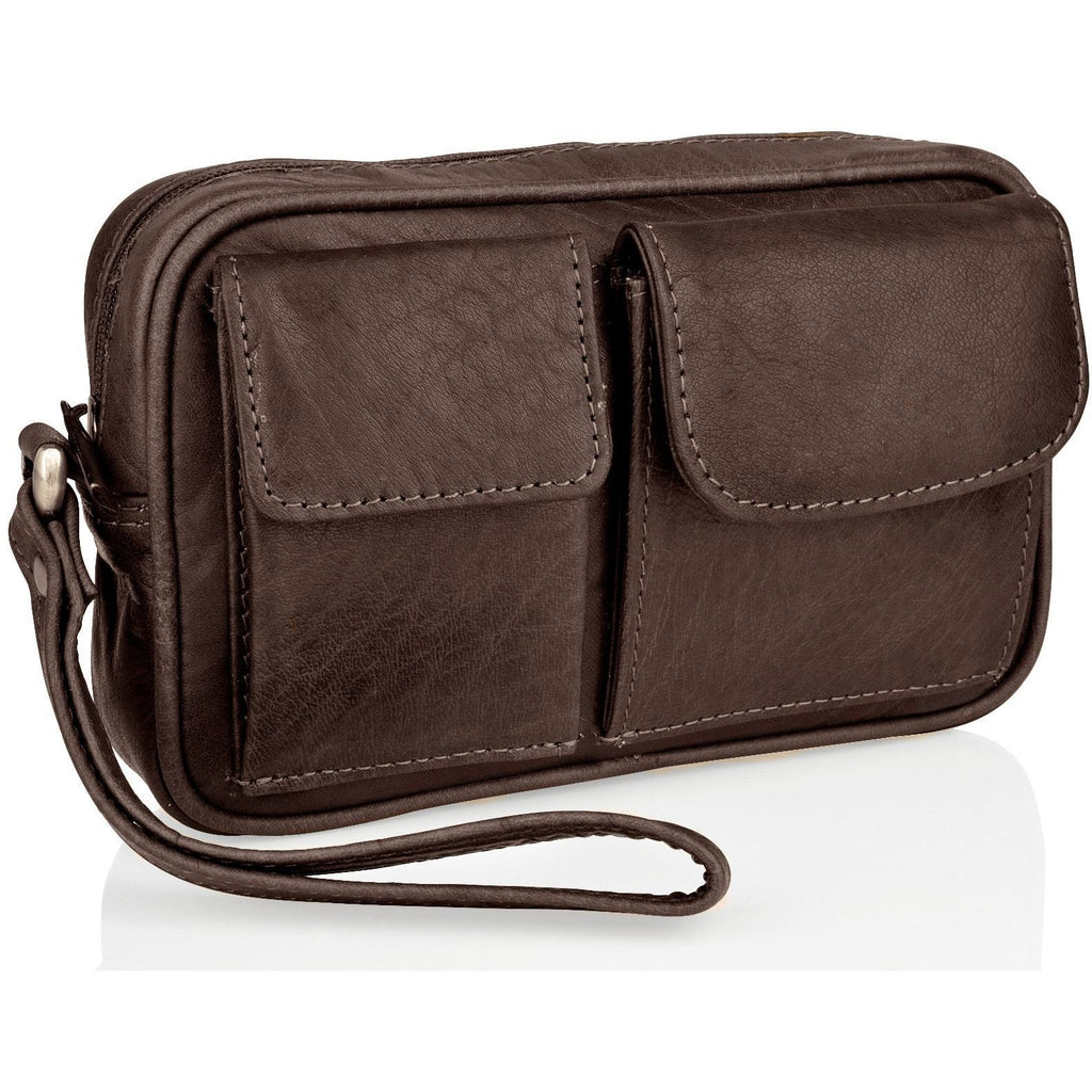 Woodland Leathers Men's Wrist Bag - Multiple Colours