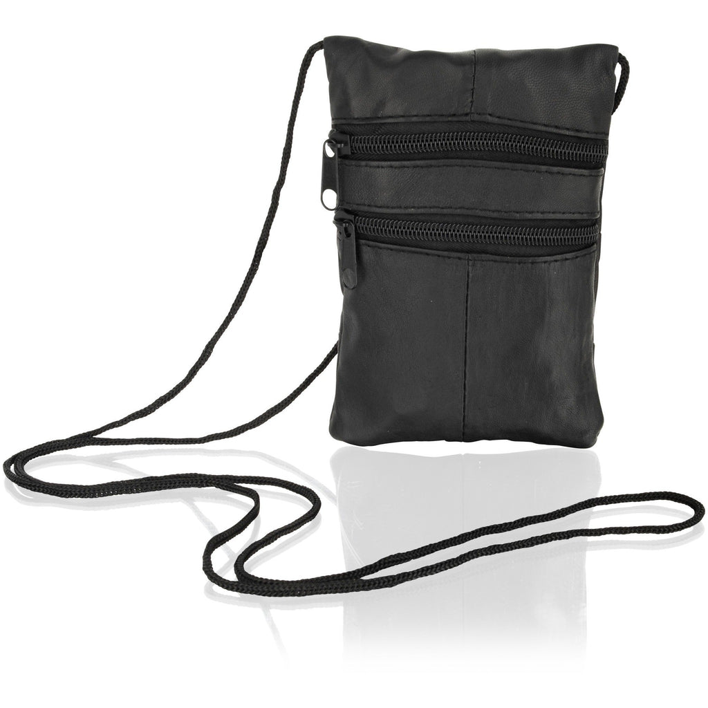 Lorenz Women's Small Black Leather Cross Body Bag