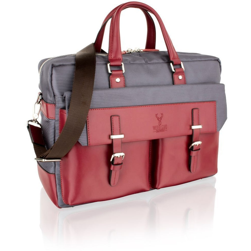 Woodland Leather Wine / Red Coloured Tote Bag-Equestrian Co.