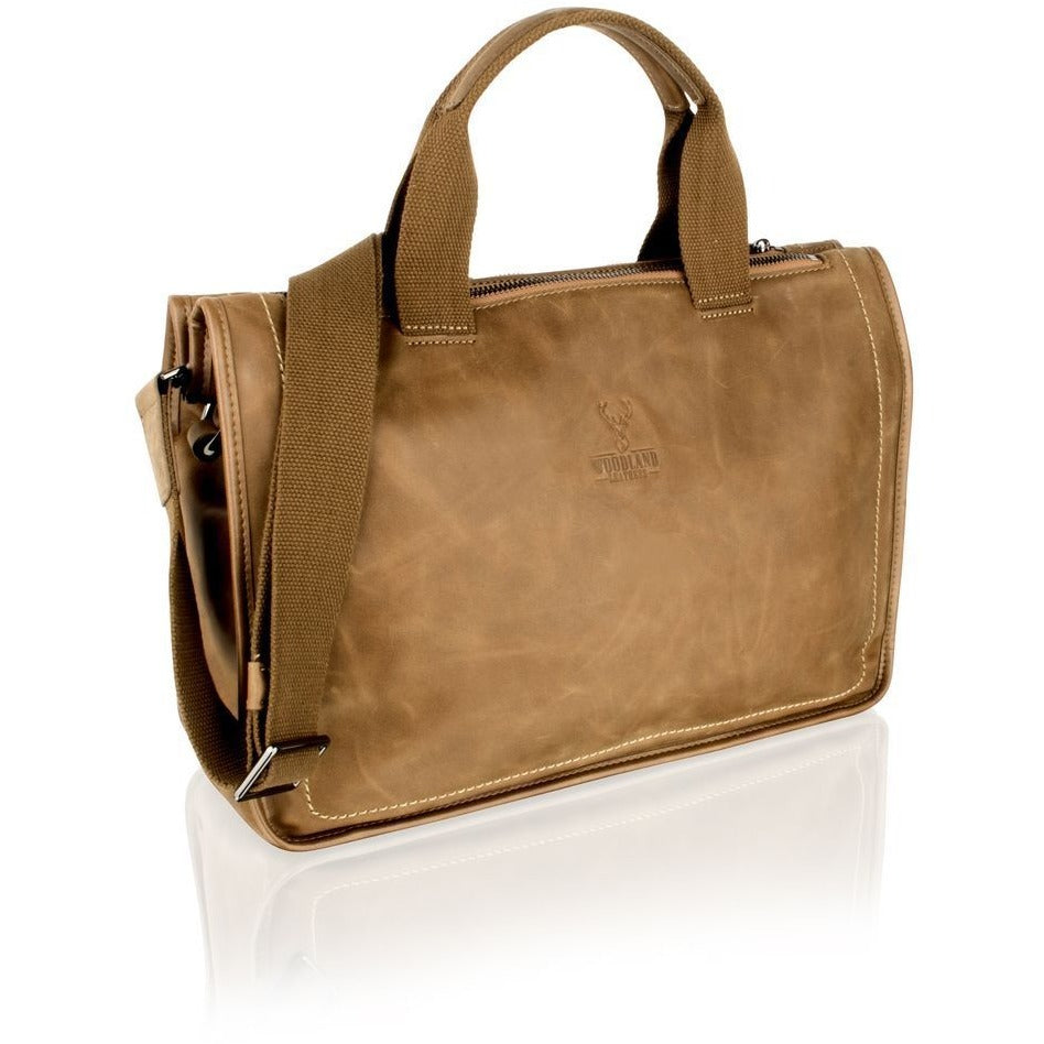 "Woodland Leather Stylish Tan Tote Bag - 14.0""-Equestrian Co."