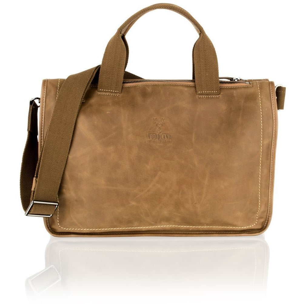 Woodland Leather Stylish Tan Tote Bag - 14.0""