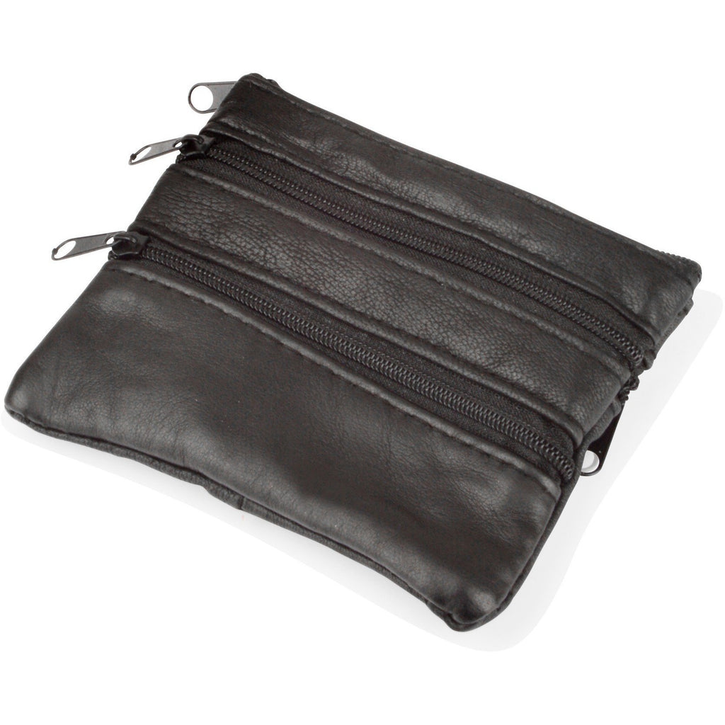 Lorenz Black Nappa Leather Coin Purse