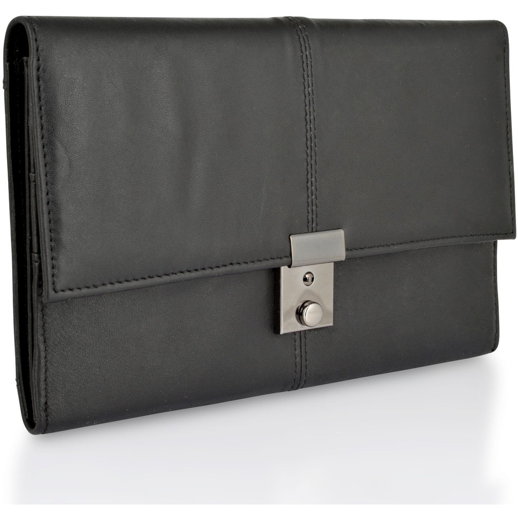 Lorenz Unisex Genuine Leather Passport Holder / Travel Document Case