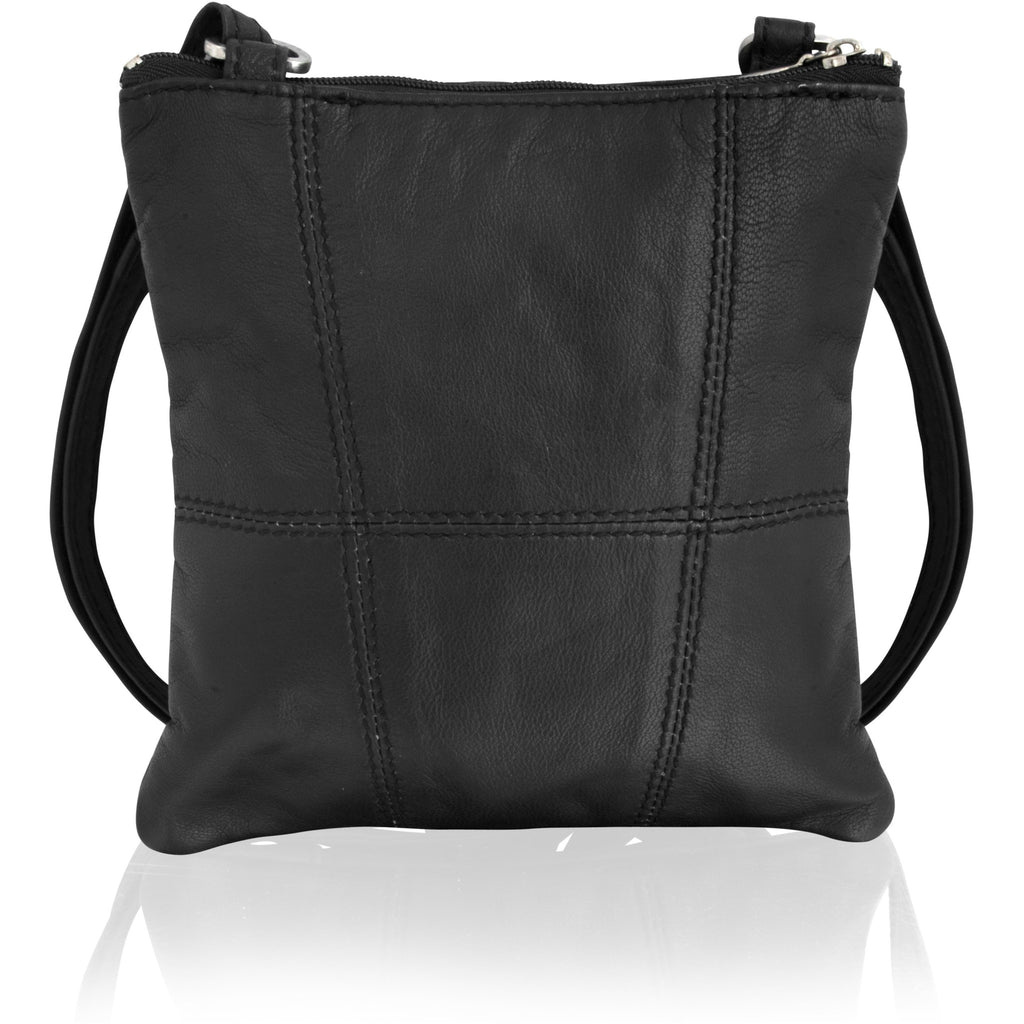 Lorenz Women's Expandable Leather Cross Body Bag