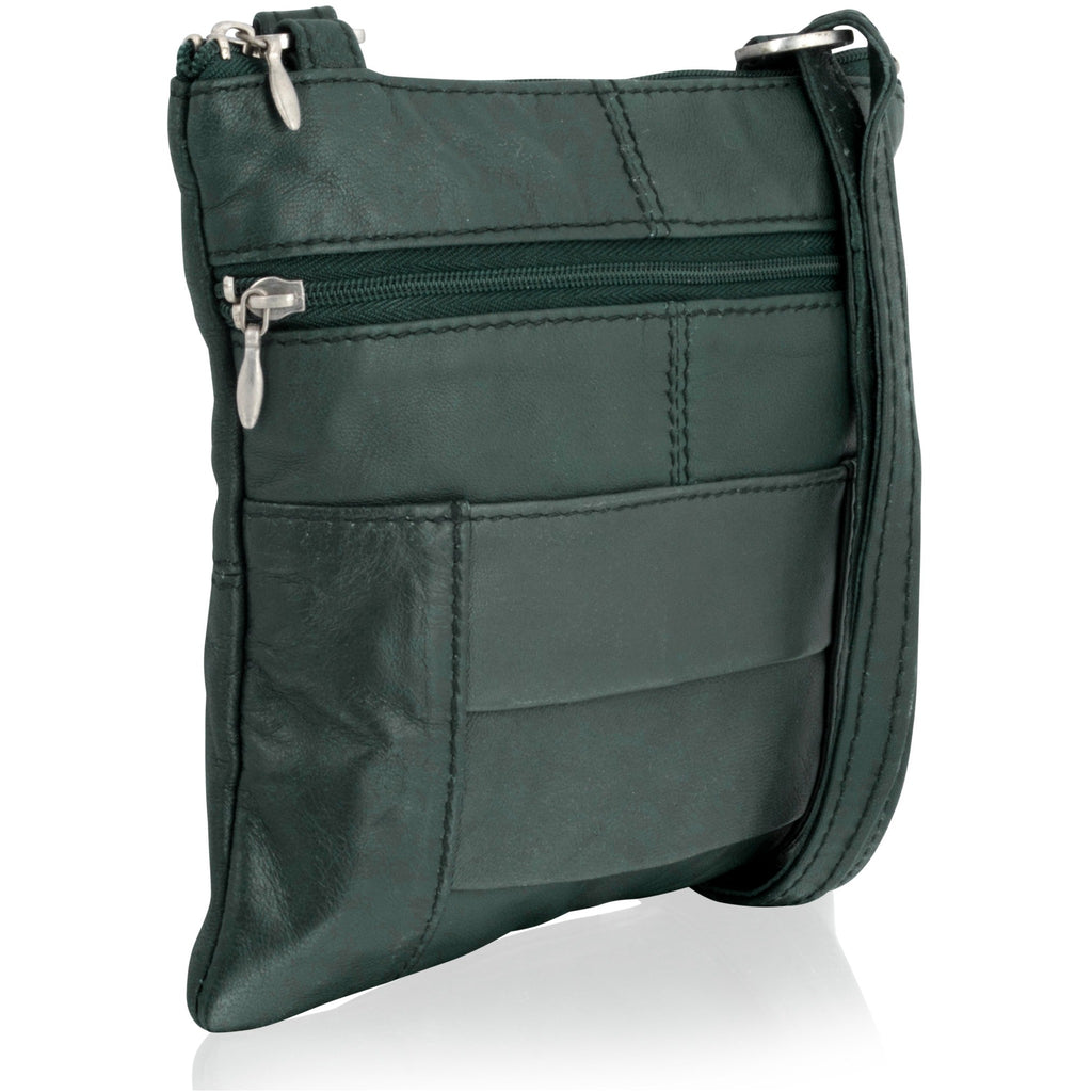 Lorenz Women's Forest-Green Expandable Cross Body Bag