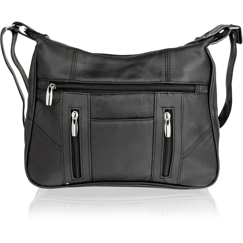 Lorenz Women's Patchwork Black Leather Bag / Purse