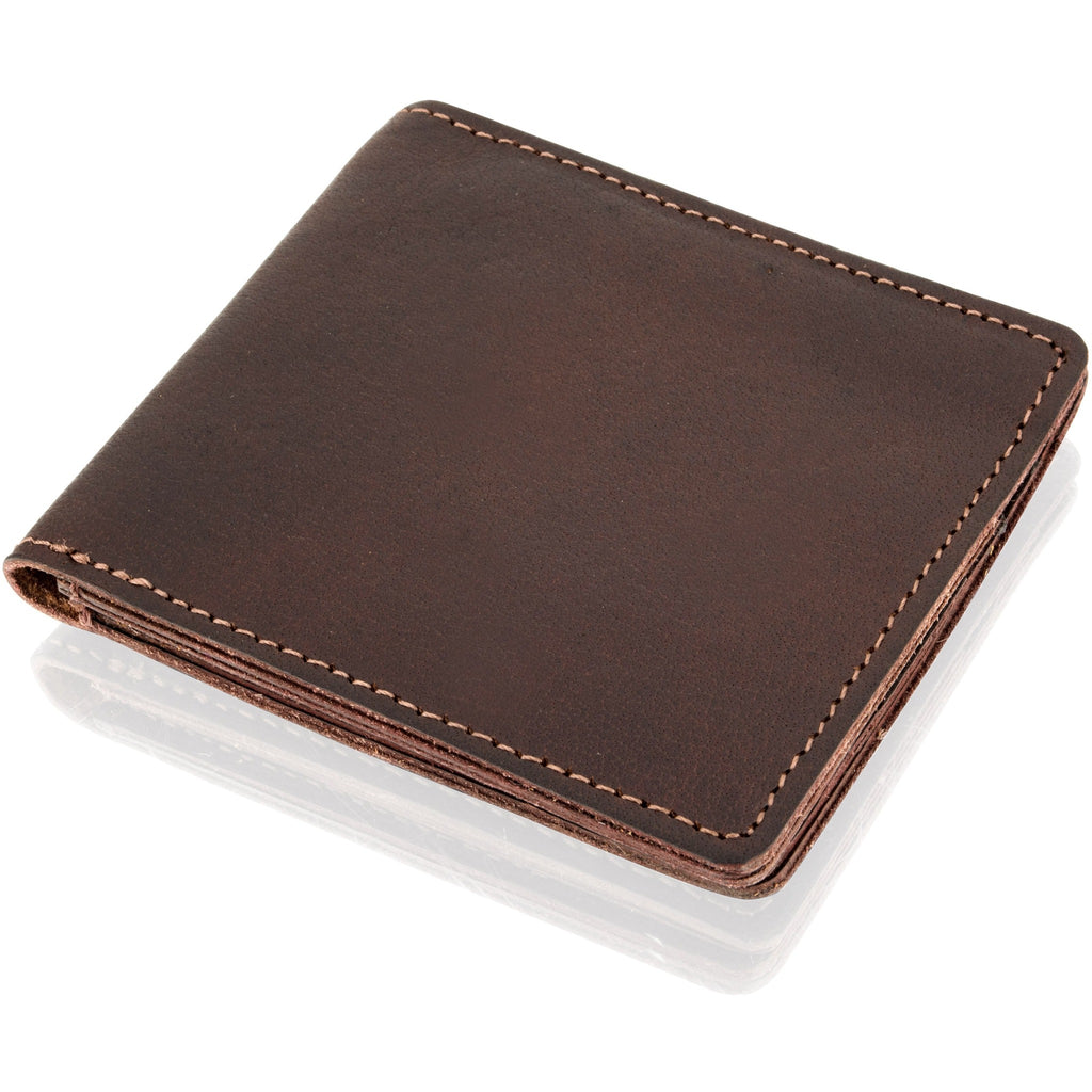 Woodland Leather Men's Naturally Stained Leather Wallet