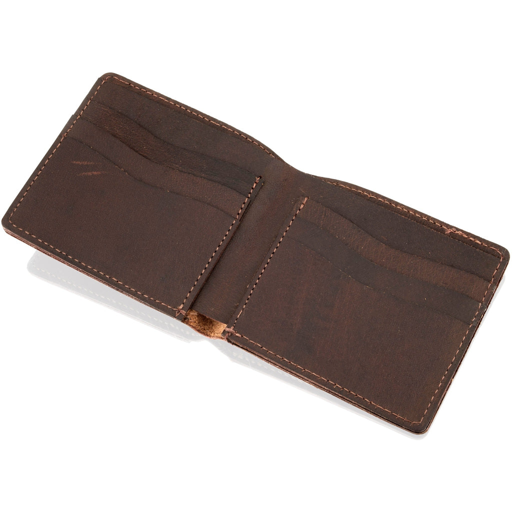 Woodland Leather Men's Naturally Stained Leather Wallet-Equestrian Co.