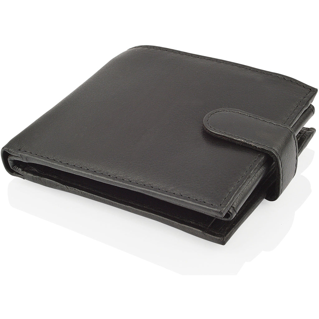 Woodland Leathers Men's Classic Black Leather Wallet