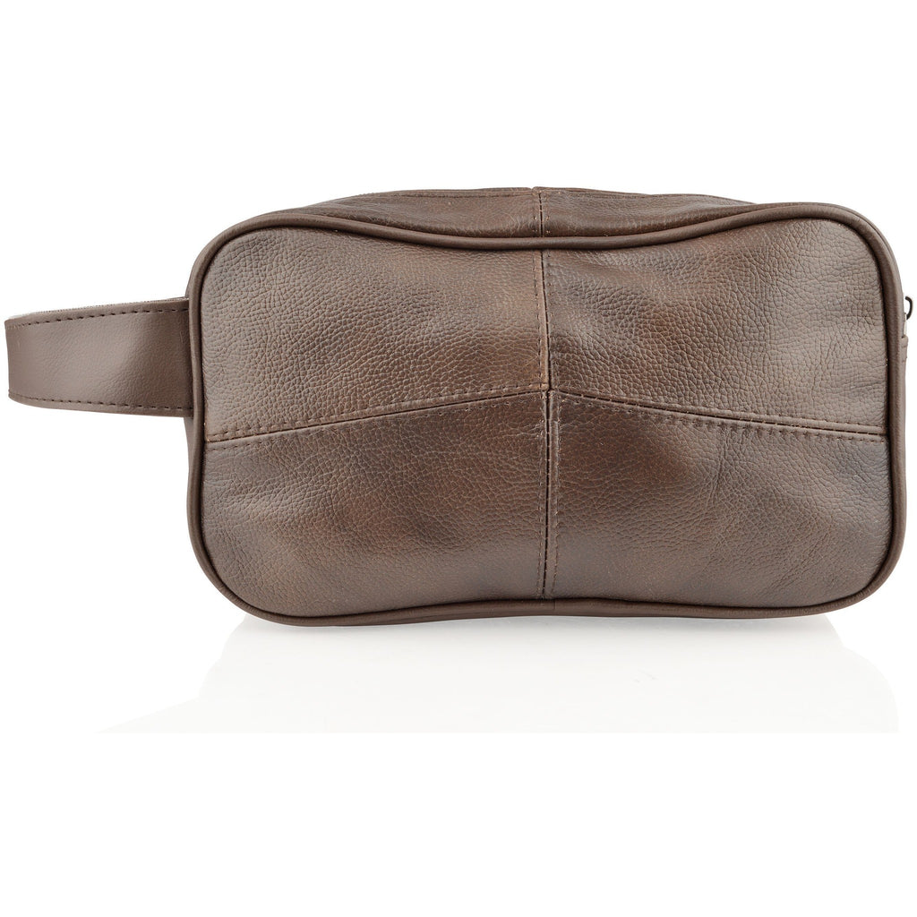 Woodland Leathers Embossed Leather Wash Bag