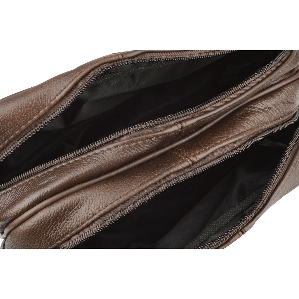 Woodland Leather Embossed Leather Wash Bag-Equestrian Co.