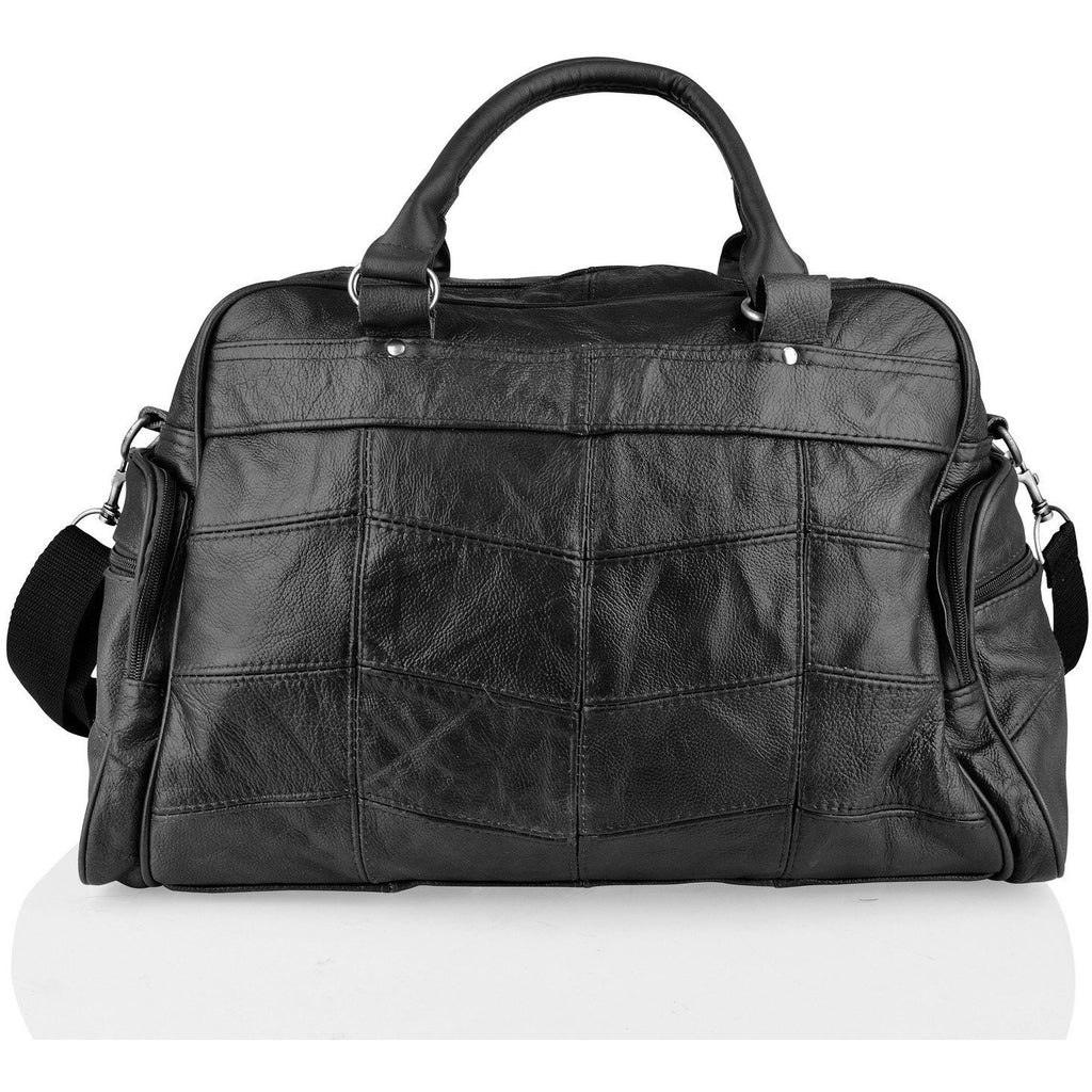 Woodland Leathers Real Leather Overnight Holdall with Grainy Effect - Equestrian Co. - 4