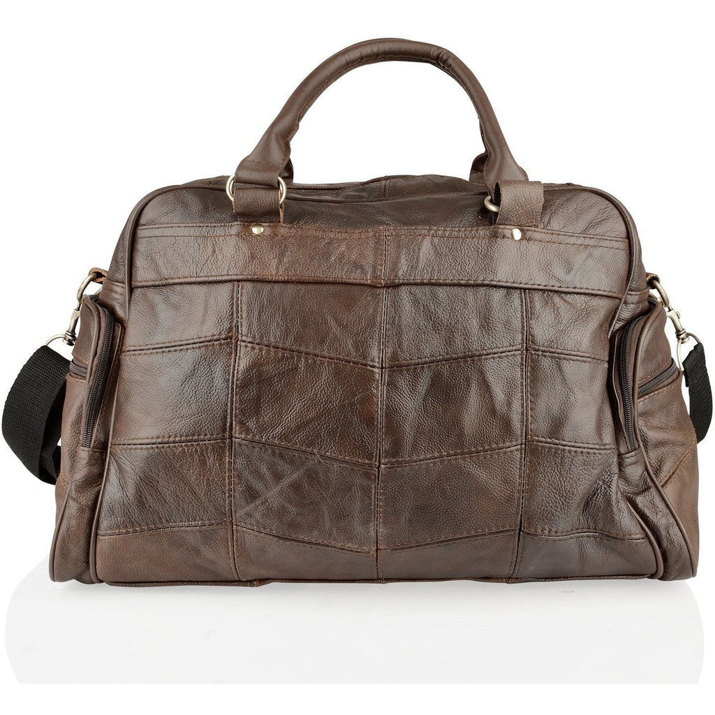 Woodland Leathers Real Leather Overnight Holdall with Grainy Effect - Equestrian Co. - 2