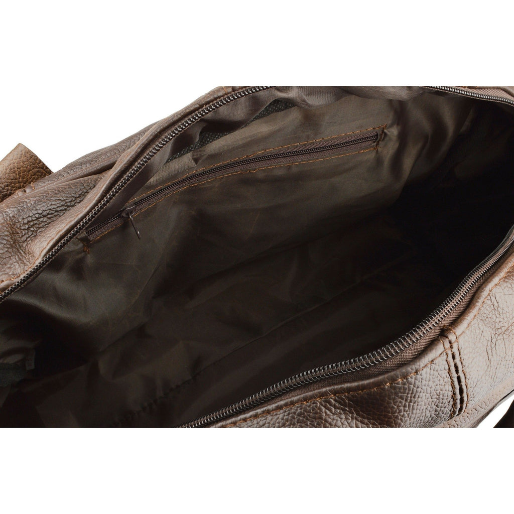 Woodland Leathers Real Leather Overnight Holdall with Grainy Effect - Equestrian Co. - 5
