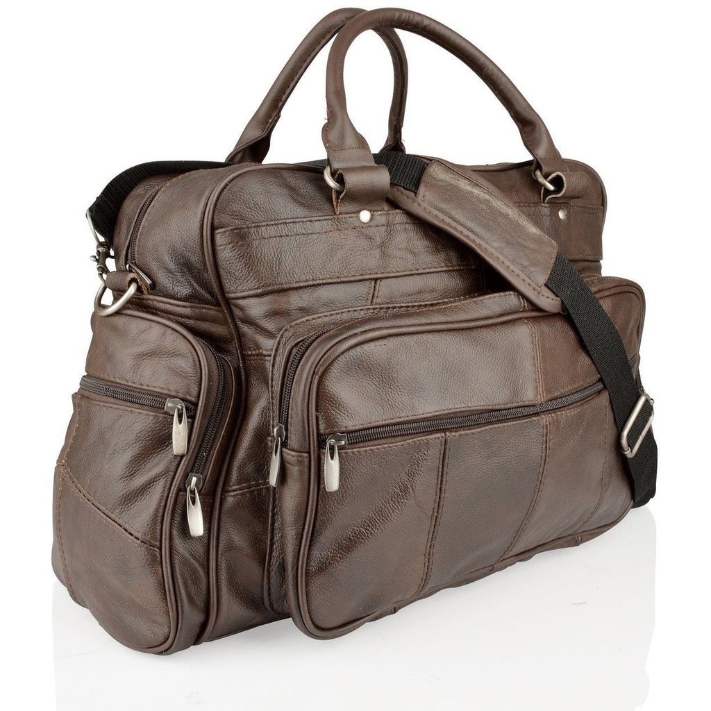 Woodland Leathers Real Leather Overnight Holdall with Grainy Effect