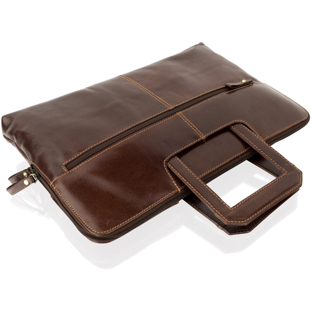 Woodland Leather Unisex Business Dark Brown Folio
