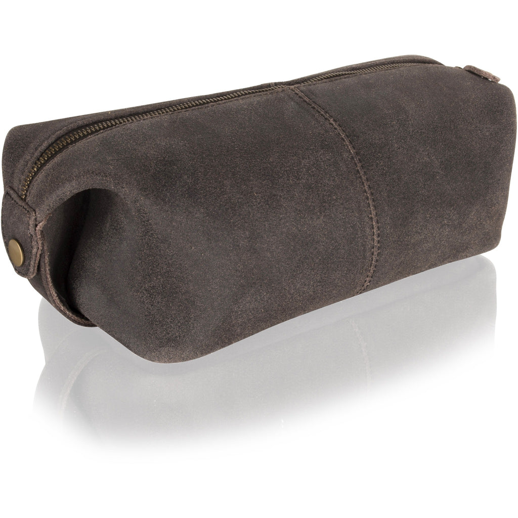 5ef6027b61f5 Woodland Leather Vintage   Antique Leather Wash Bag   Toiletry Bag-Equestrian  Co.